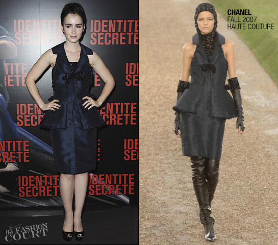 "Lily Collins in Chanel Couture | ""Abduction"" Paris Premiere"