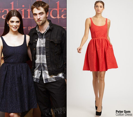Ashley Greene in Peter Som & Robert Pattinson in Levi's | 'Breaking Dawn: Part 1' Brussels Photocall