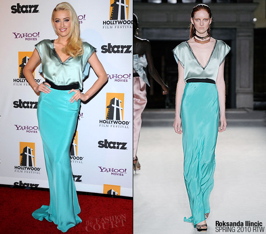Amber Heard in Roksanda Ilincic | 2011 Hollywood Film Awards Gala
