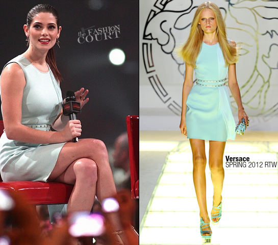 Ashley Greene in Versace | 'Breaking Dawn - Part 1' Stockholm Fan Event