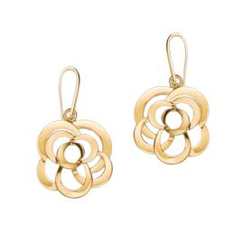 Chanel Yellow Gold Camélia Earrings