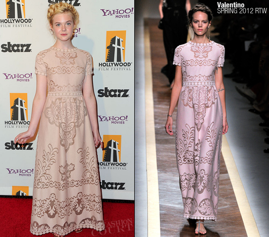 Elle Fanning in Valentino | 2011 Hollywood Film Awards Gala