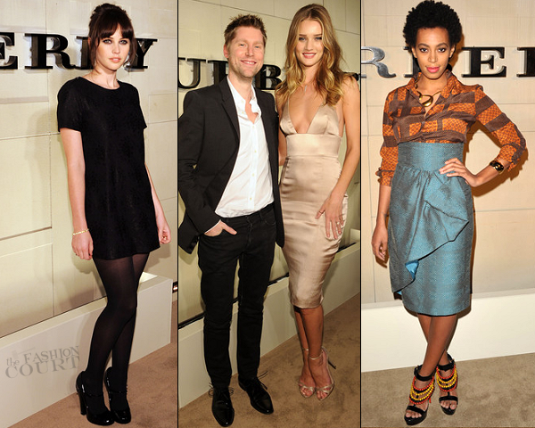 Felicity Jones, Rosie Huntington-Whiteley & Solange Knowles | Burberry Body Event