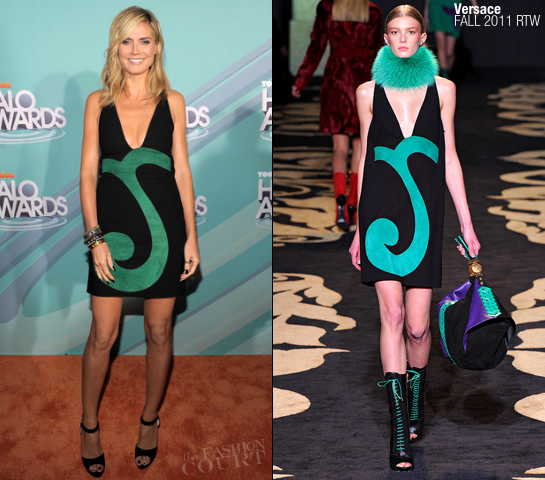 Heidi Klum in Versace | Nickelodeon TeenNick HALO Awards