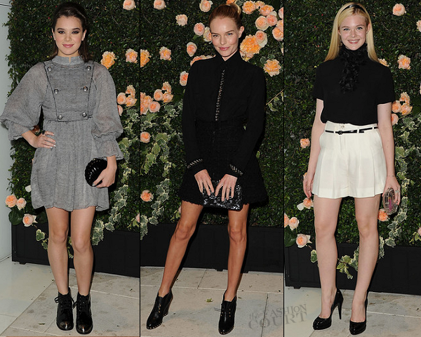 Hailee Steinfeld, Kate Bosworth & Elle Fanning | CHANEL Beauty Intimate Dinner