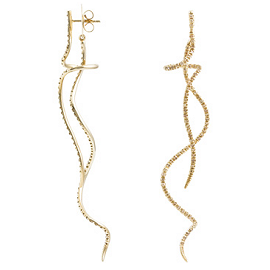 H.Stern Zephyr Earrings in 18K Noble Gold with diamonds.