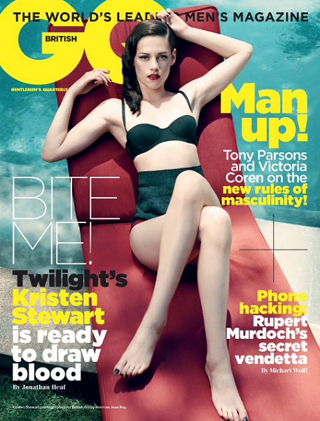 COVER GIRL: Kristen Stewart Vamps It Up For British GQ!