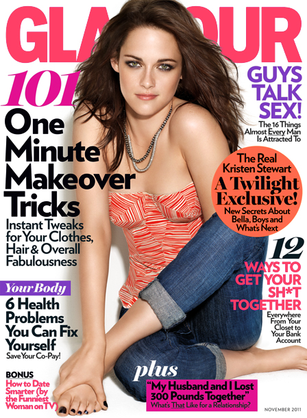 Cover Girl: Kristen Stewart is Glamour's November Girl!