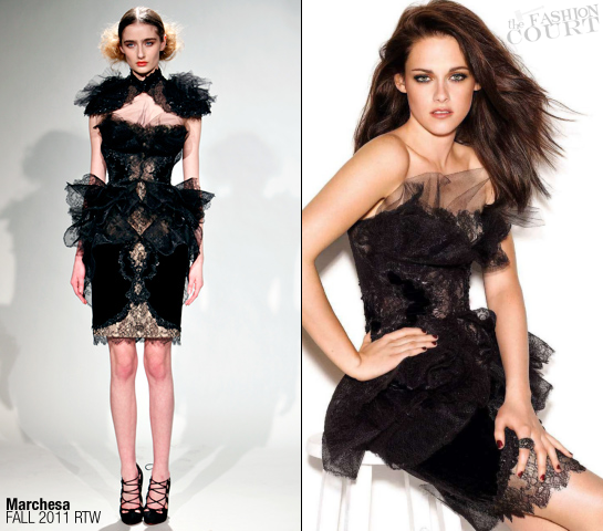 Kristen Stewart in Marchesa | GLAMOUR UK, December 2011