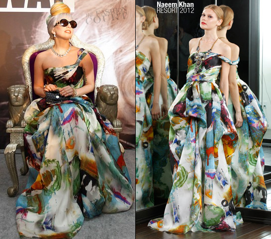Lady Gaga in Naeem Khan | New Delhi Press Conference