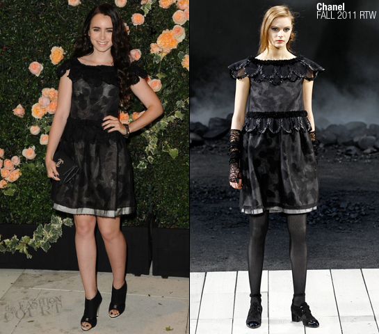Lily Collins in Chanel | CHANEL Beauty Intimate Dinner