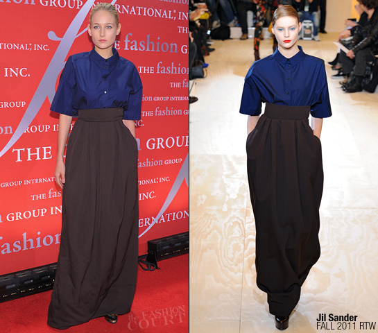 Leelee Sobieski in Jil Sander | Fashion Group International's 28th Annual Night Of Stars