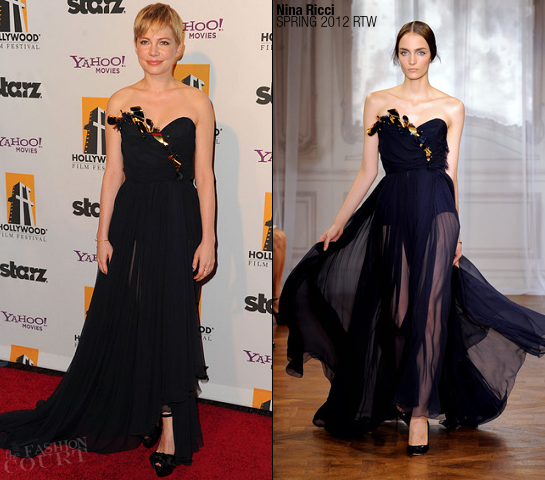 Michelle Williams in Nina Ricci | Hollywood Film Awards Gala