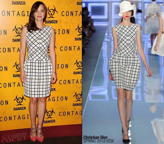 Marion Cotillard in Christian Dior | 'Contagion' Paris Premiere