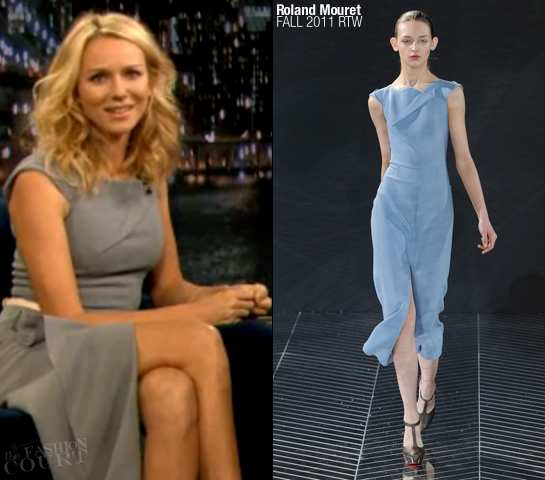 Naomi Watts in Roland Mouret | 'Late Night with Jimmy Fallon'
