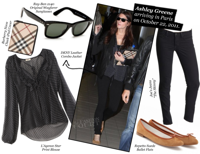 Ashley Greene wears L'Agence, DKNY & Joe's Jeans!