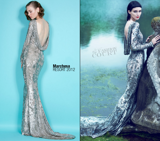 Rooney Mara in Marchesa | VOGUE, November 2011