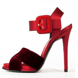 Roger Vivier Sport Chic Velvet and Satin Sandals