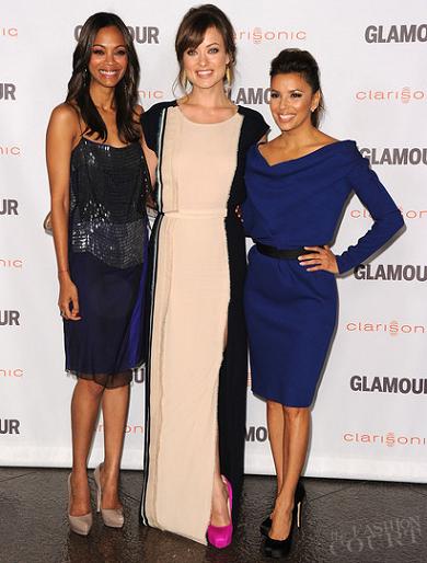 Zoe Saldana, Olivia Wilde & Eva Longoria | 2011 Glamour Reel Moments Premiere