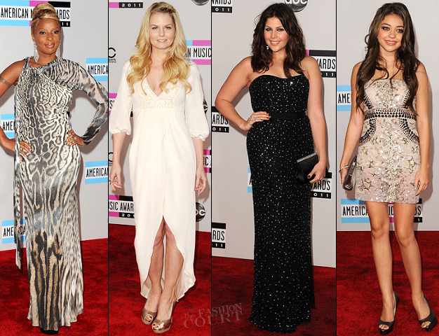2011 American Music Awards Red Carpet Round Up