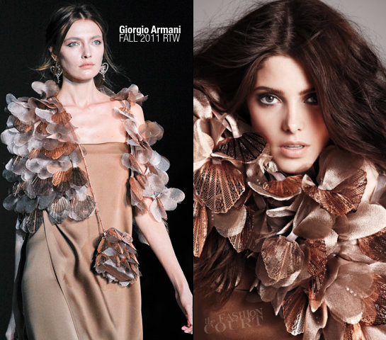 Ashley Greene in Giorgio Armani | BlackBook, November 2011