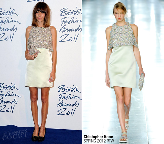 Alexa Chung in Christopher Kane | 2011 British Fashion Awards