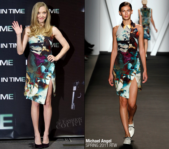 Amanda Seyfried in Michael Angel | 'In Time' Madrid Photocall