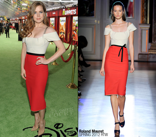 Amy Adams in Roland Mouret | 'The Muppets' LA Premiere