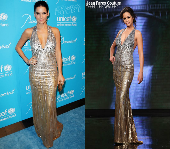 Angie Harmon in Jean Fares Couture | 2011 UNICEF Snowflake Ball