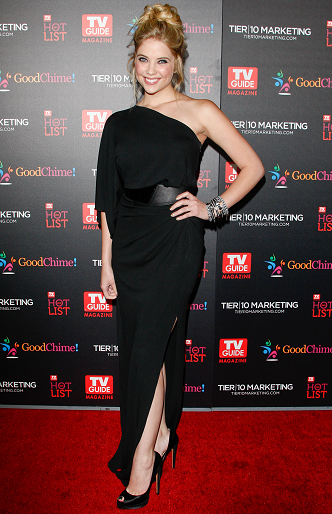 Ashley Benson in Gianfranco Ferrè | TV Guide Magazine Annual Hot List Party