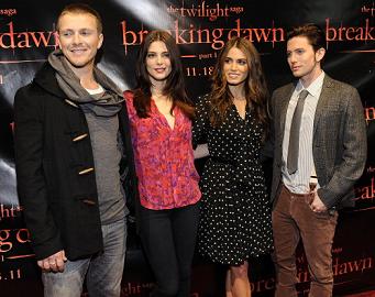 Charlie Bewley, Ashley Greene, Nikki Reed & Jackson Rathbone | 'The Twilight Saga: Breaking Dawn - Part 1' Concert Tour - San Francisco