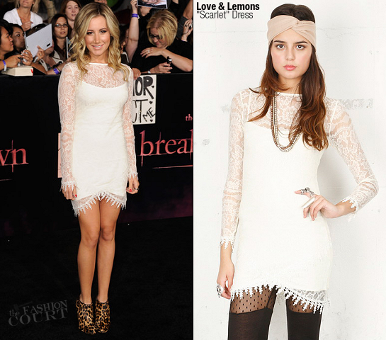 Ashley Tisdale in For Love & Lemons | 'The Twilight Saga: Breaking Dawn - Part 1' LA Premiere