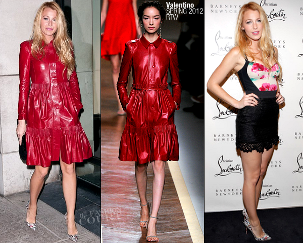 Blake Lively in Valentino and Dolce & Gabbana | Christian Louboutin Cocktail Party