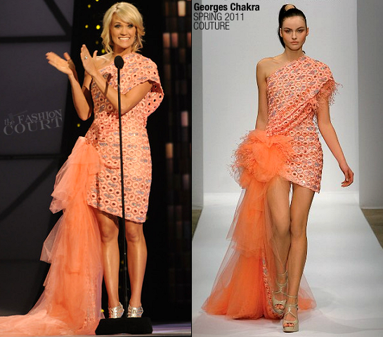 Carrie Underwood in Georges Chakra | 45th Annual CMA Awards