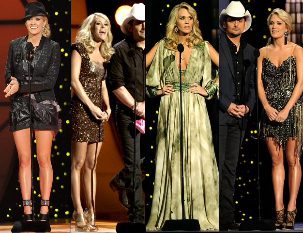 Carrie Underwood in Nikki Rich, Roberto de Villacis, Jean Fares Couture & Mandalay | 45th Annual CMA Awards