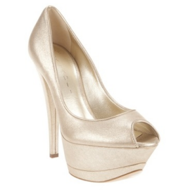 Casadei 6107 Triple Platform Open Toe Pumps