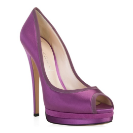CASADEI Satin Double-Platform Court Shoe