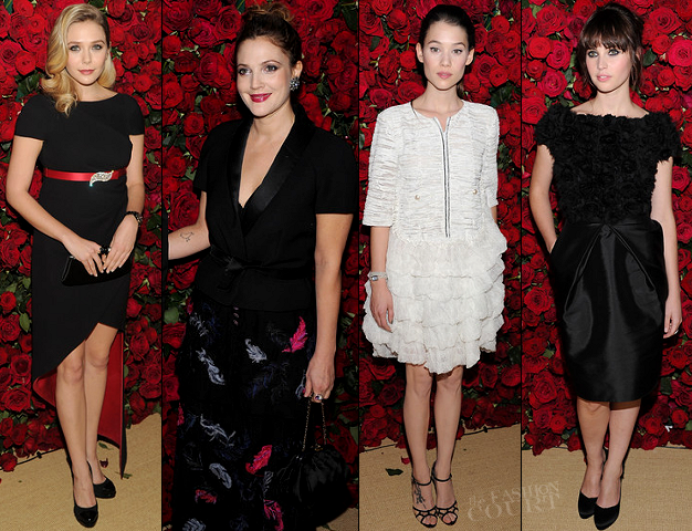 Elizabeth Olsen, Drew Barrymore, Astrid Berges-Frisbey & Felicity Jones | MoMA 4th Annual Film Benefit 'A Tribute to Pedro Almodovar'