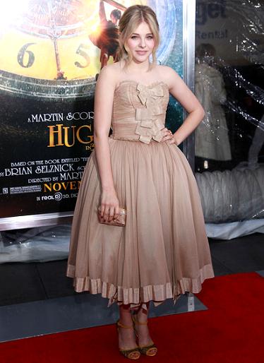 Chloe Moretz in Dolce & Gabbana | 'Hugo' NY Premiere