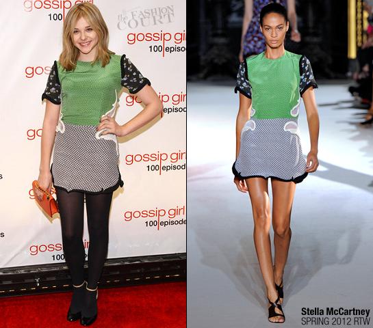 Chloe Moretz in Stella McCartney | 'Gossip Girl' 100th Episode Celebration