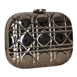 Christian Dior Minaudiere Metal Clutch