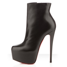 Christian Louboutin DAF Leather Platform Boots