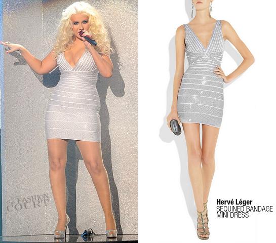 Christina Aguilera in Herve Leger | 2011 American Music Awards