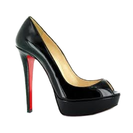 Christian Louboutin BANANA Peep Toe Pumps