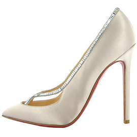 Christian Louboutin SUPERVIC Satin Strass Pumps