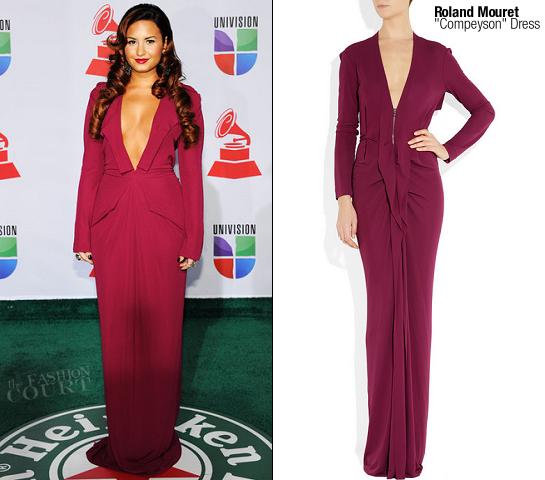 Demi Lovato in Roland Mouret | 12th Annual Latin GRAMMY Awards