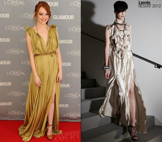 Emma Stone in Lanvin | 2011 Glamour Women Of The Year Awards