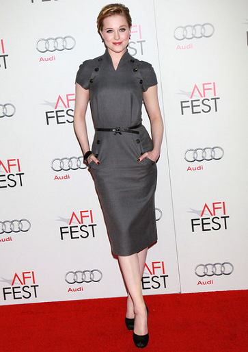 Evan Rachel Wood in Christian Dior | AFI FEST 2011 - LA Times Young Hollywood Roundtable