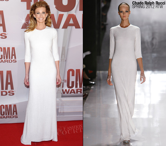 Faith Hill in Chado Ralph Rucci | 45th Annual CMA Awards