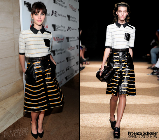 Felicity Jones in Proenza Schouler | The Hollywood Reporter's Annual Next Gen Reception